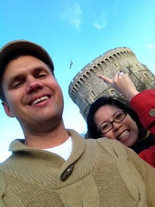 Jammie and I at Windsor Castle in England!